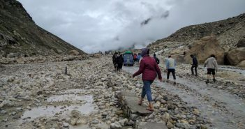 Water crossings on Manali - Kaza road