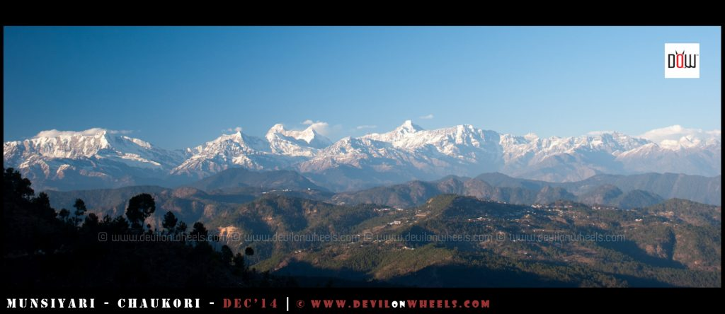 The mighty views of snow clad Himalayan range