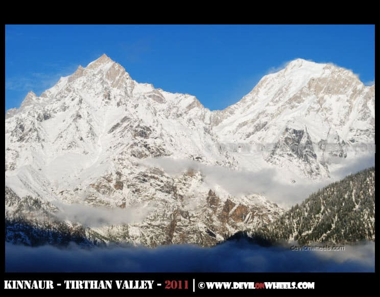 Fabulous snow laden views of Kinnaur Valley