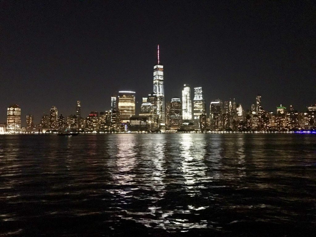 The sparkling skyline at night - New York City Downtown