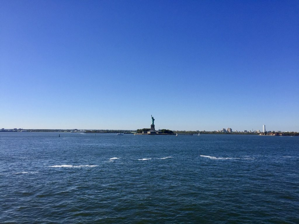 Statue of Liberty, as seen from Staten Island Ferry