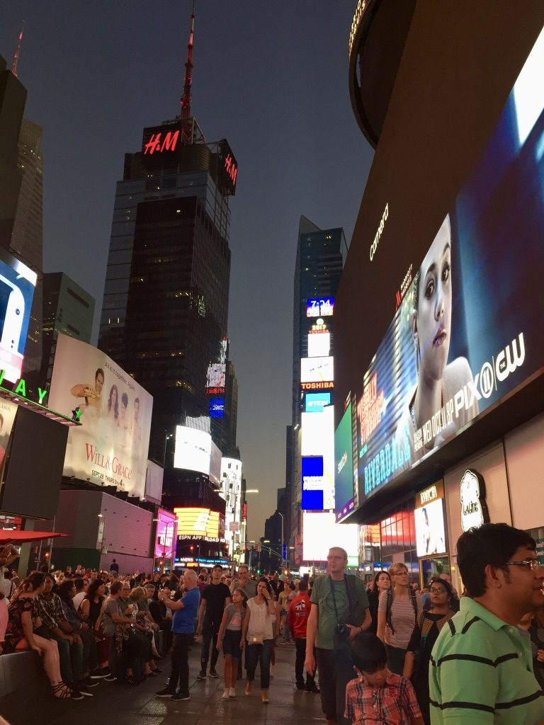 The Shinning Night at the Broadway - Times Square NYC