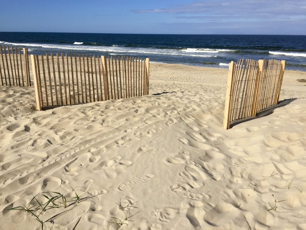 First sight of the beach at Nags Head, Outer Banks