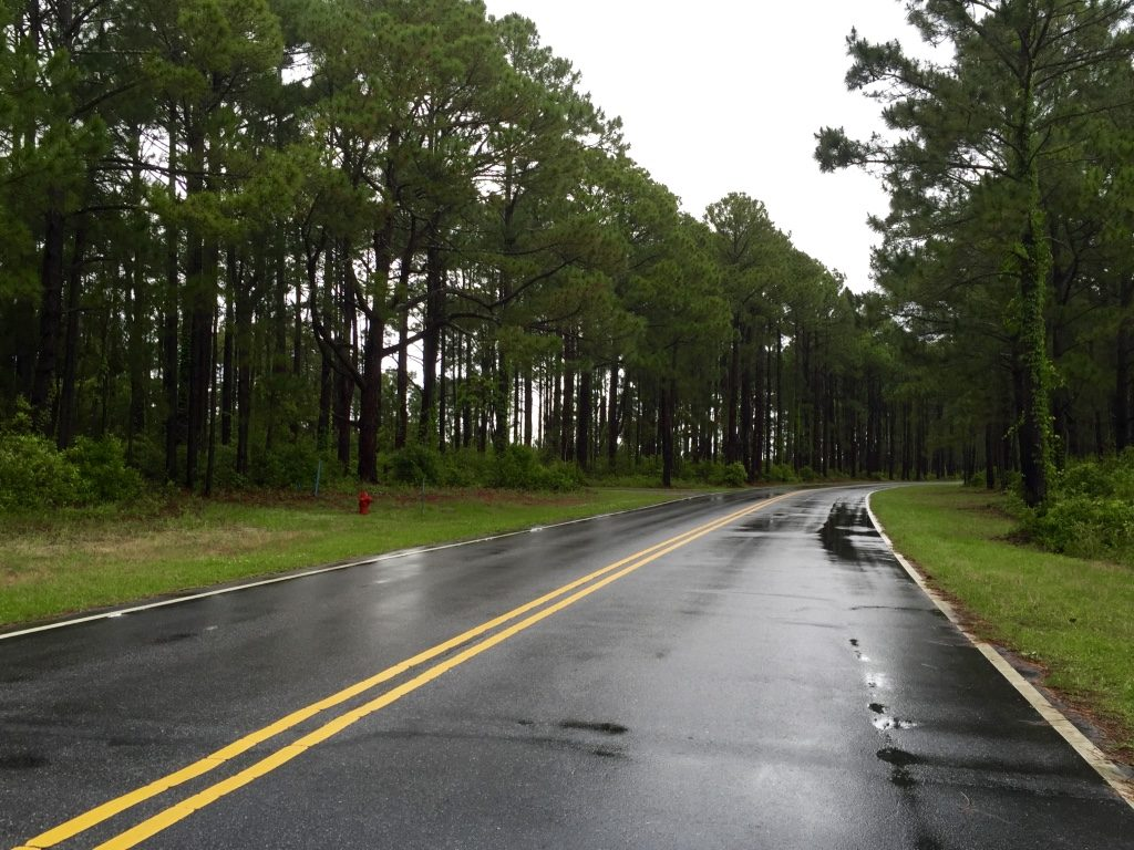 The rainy roads of the outer banks