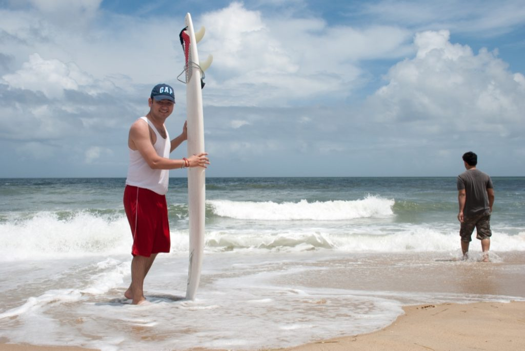 Getting ready for the surf shot ;)