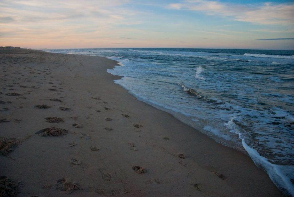 And the sunset begins at Nags Head, Outer Banks