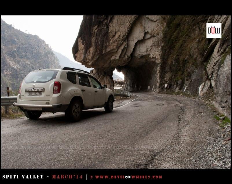 The rock cut roads of Kinnaur Valley