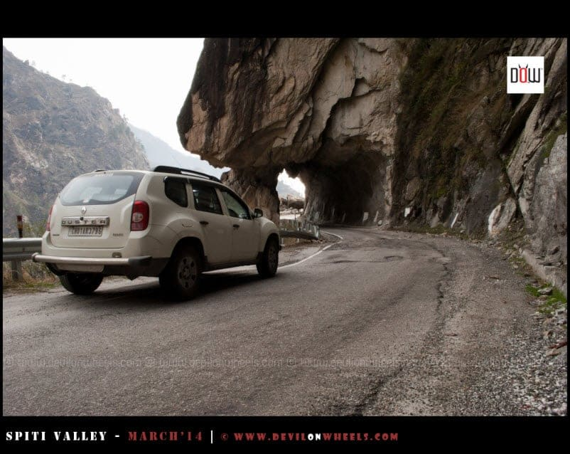 The rock cut roads of Kinnaur Valley