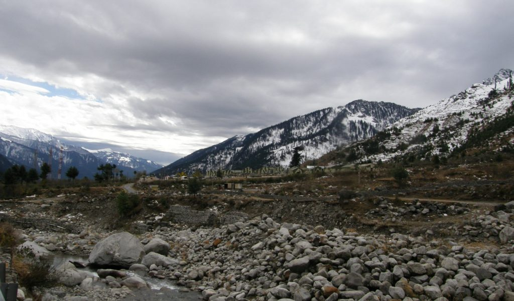 Views of Solang Valley in Winters