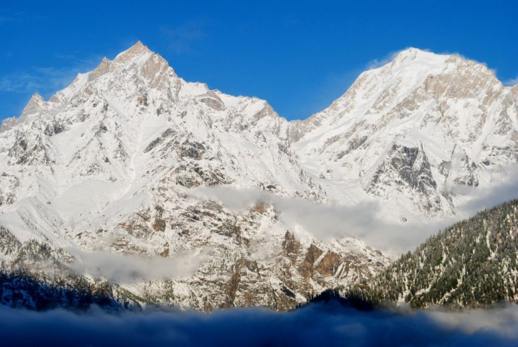 Kinnaur Kailash Range in Winter