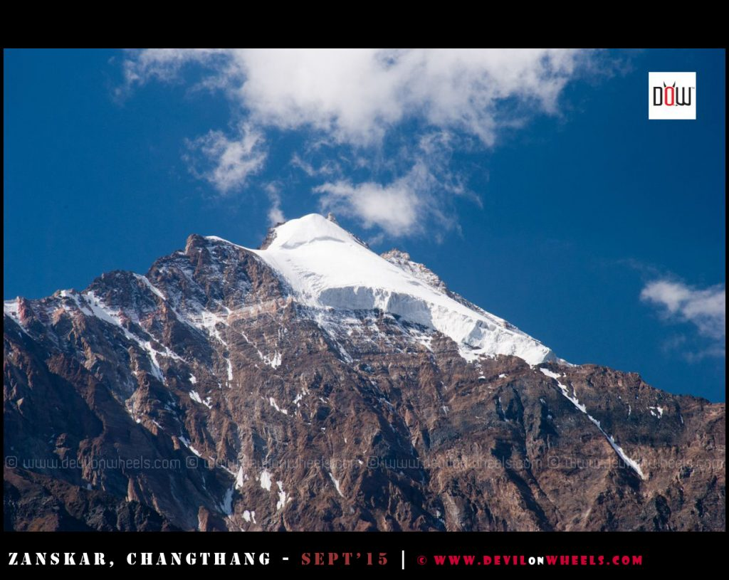 Remains of a glacier in Zanskar Valley