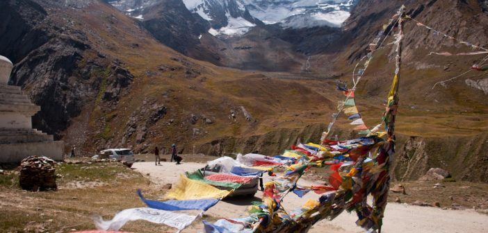 Prayer Flags in Zanskar Valley