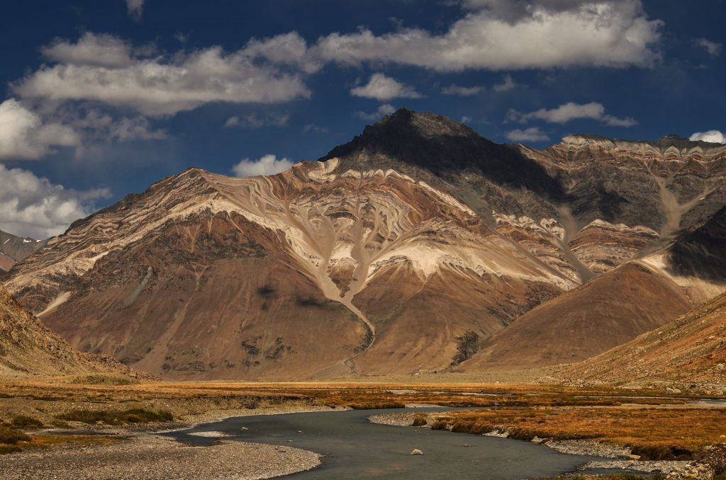Zanskar River with an amazing backdrop