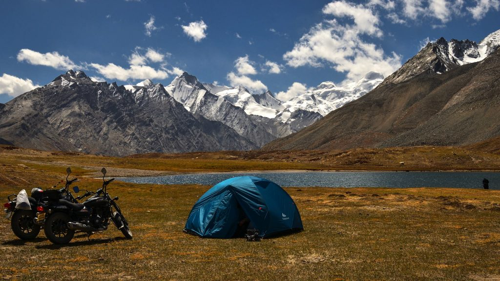 Camping helps making a budget trip to Zanskar Valley