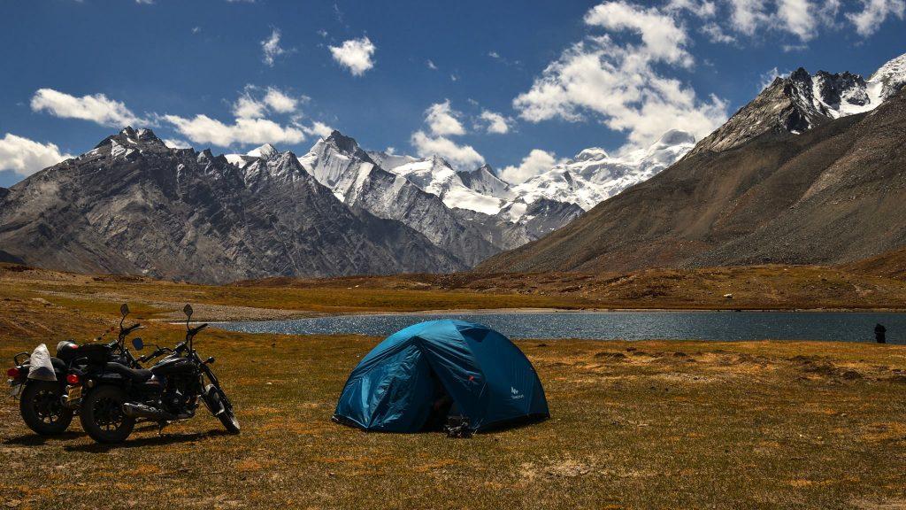 Camping helps making a budget trip to Zanskar Valley