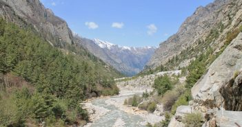 Bhagirathi river that gives you company throughout the trek