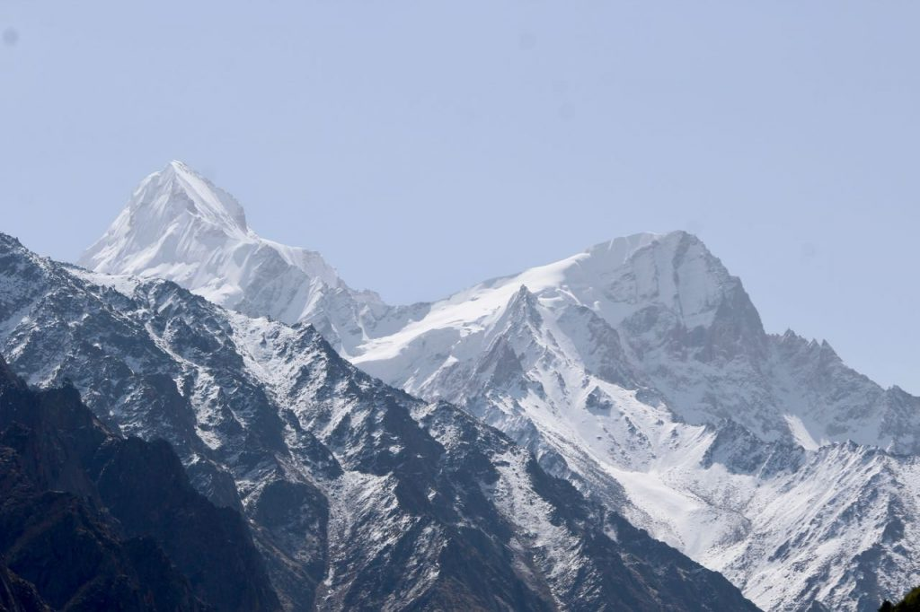 A view of the peaks during a visit in the month of may