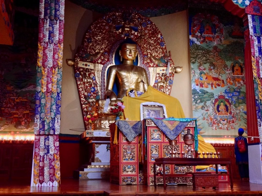 Magnificent Buddha Statues at Monasteries in Dharamshala are common