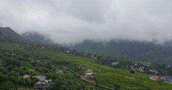 Magical clouds somewhere near Palampur