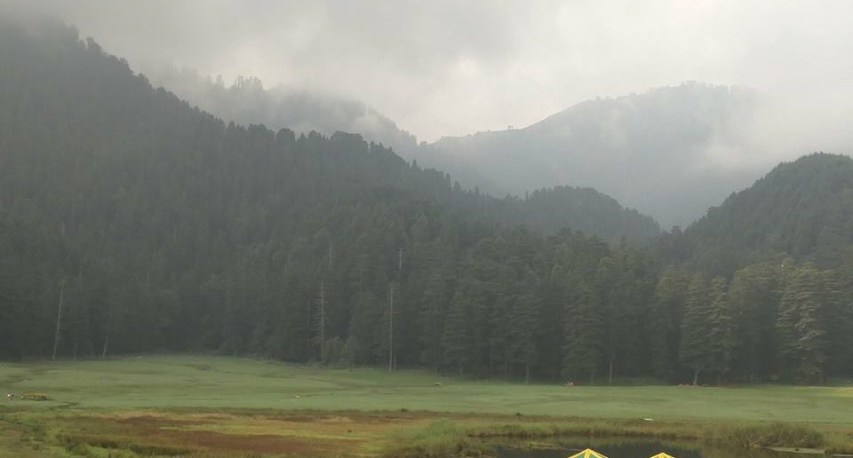 The beautiful meadow of Khajjiar