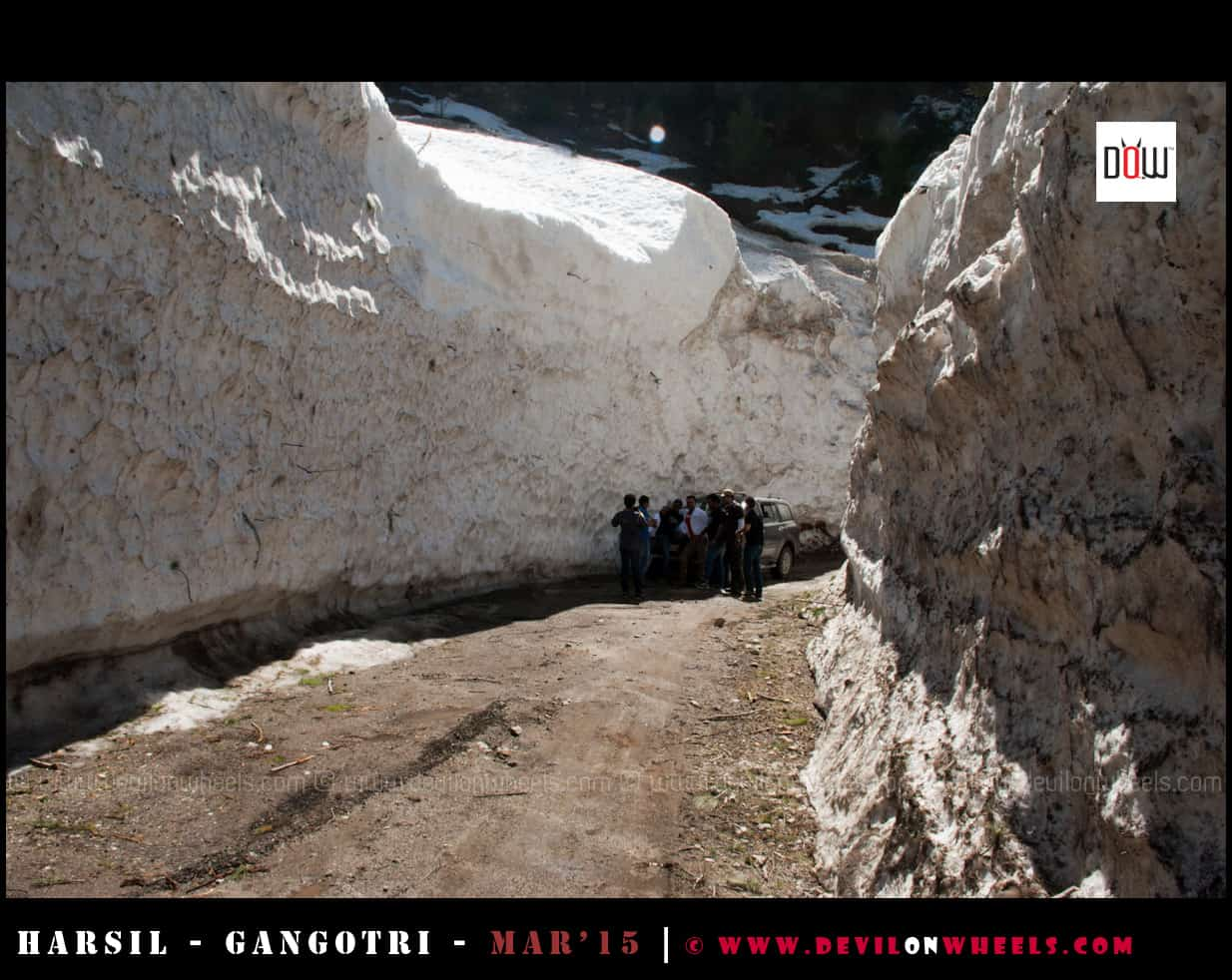 Harsil Dharali Snow walls