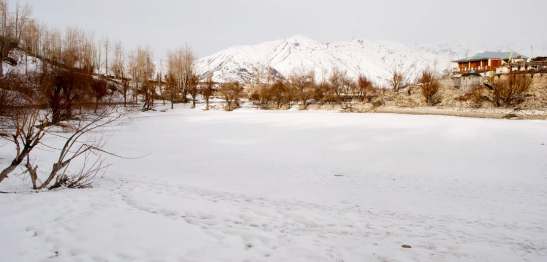 That is frozen Nako Lake for you