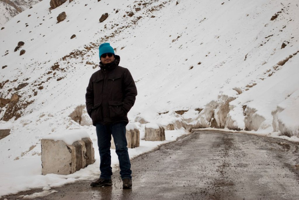 Oh yes, that's me on my winter trip to Spiti Valley ;)
