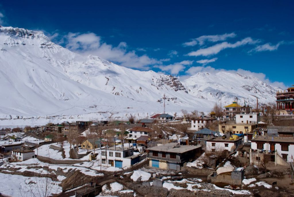 Kaza buried in snow in March