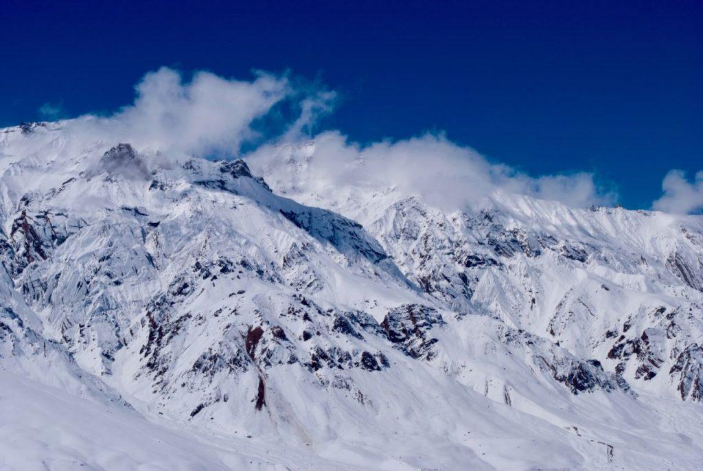 Glaciers in Spiti in winters