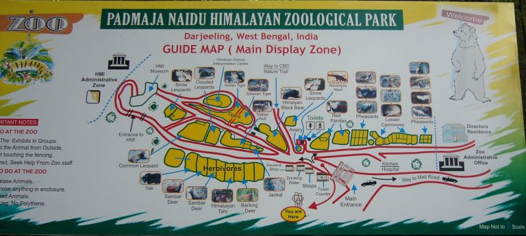 Map of Himalayan Zoological Park, Darjeeling