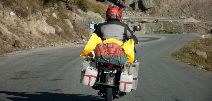 How to carry extra fuel and luggage safely on your motorcycle?