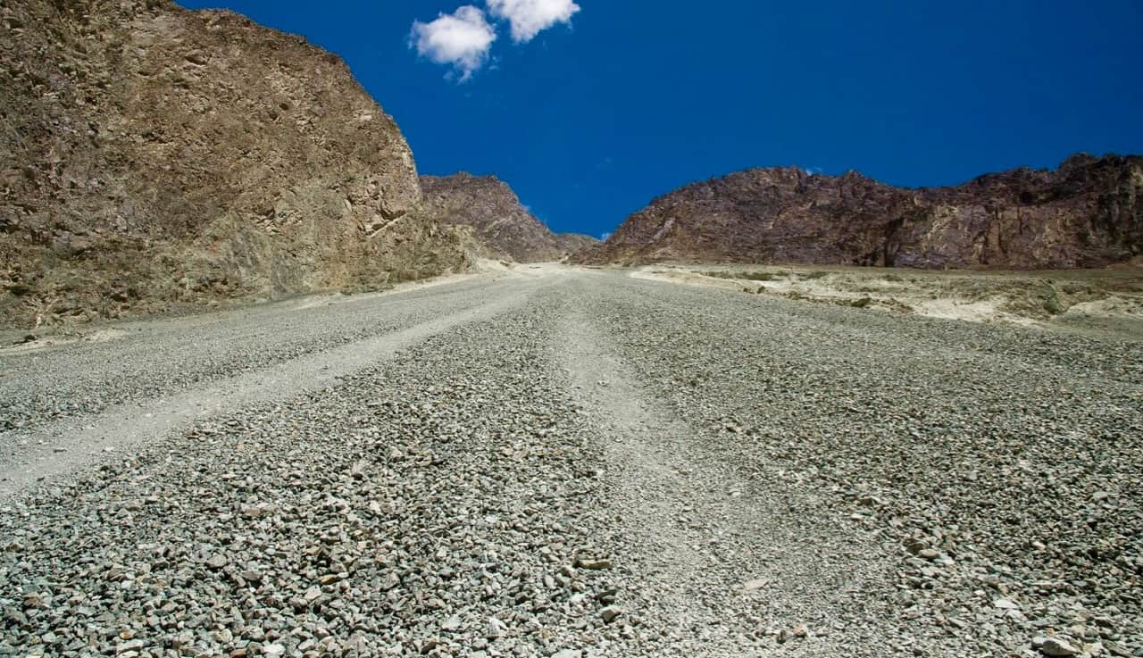 The rough road stretches of Turtuk