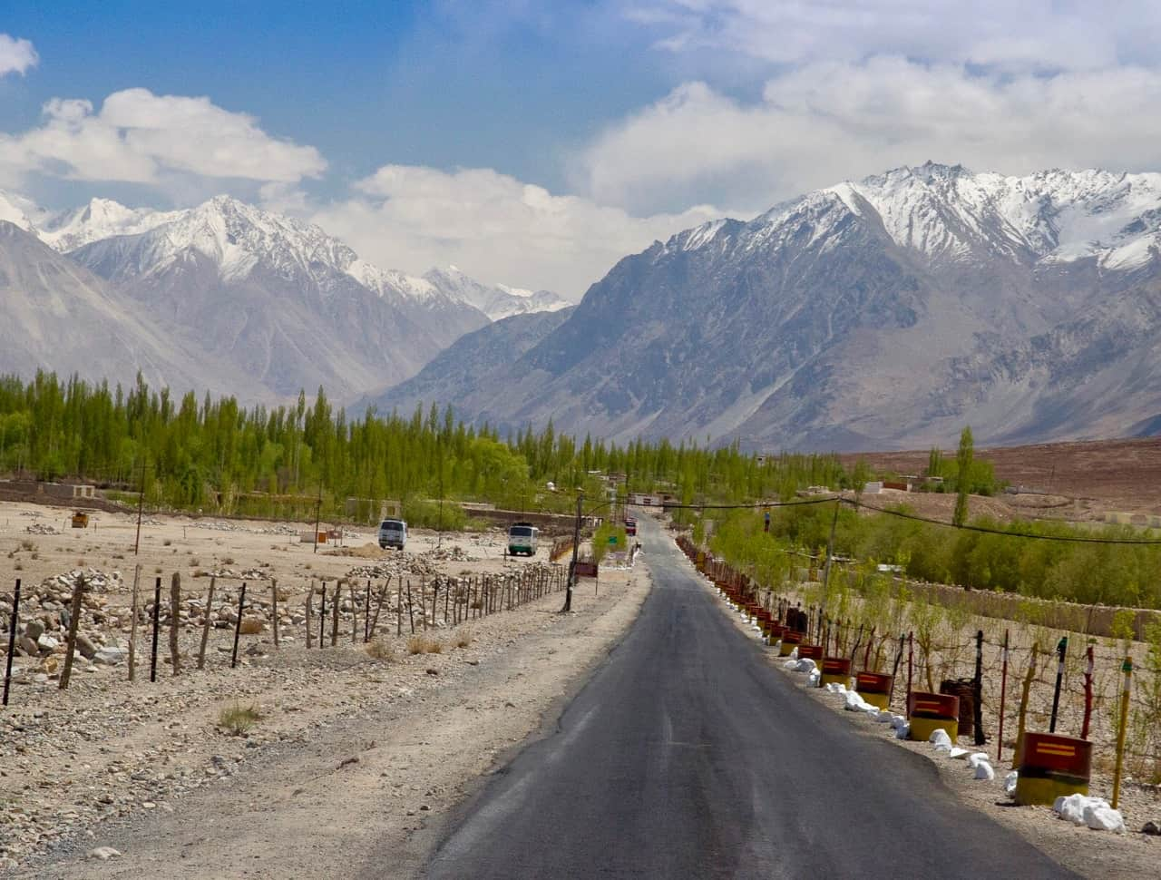 The lovely drive from Hunder to Turtuk