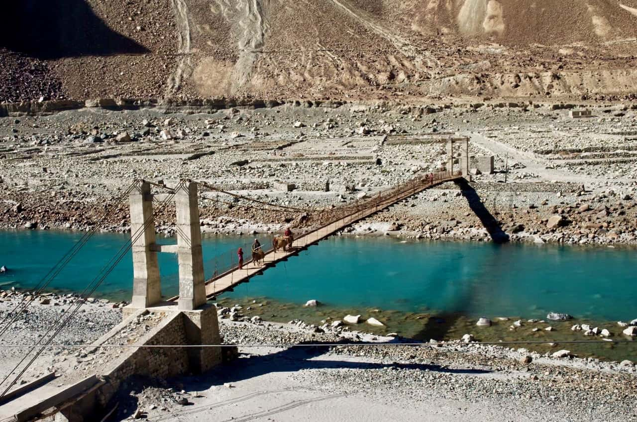 One of the many bridges in Ladakh