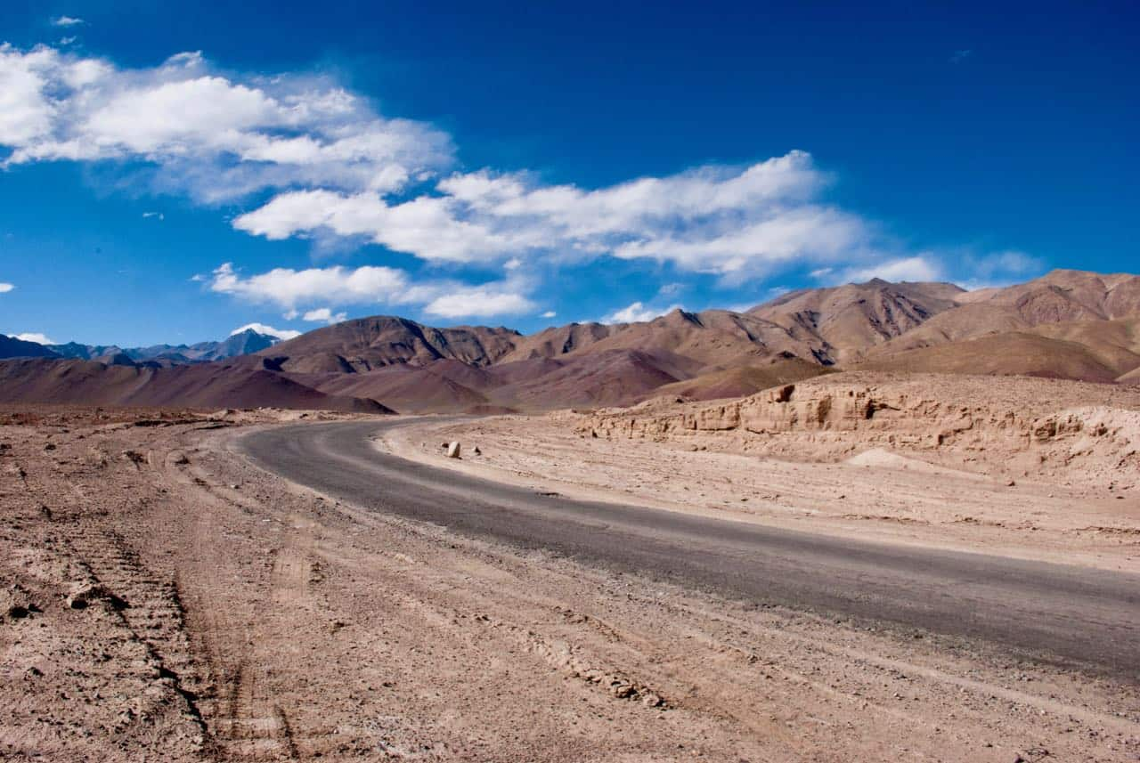 The beautiful landscape in Changthang