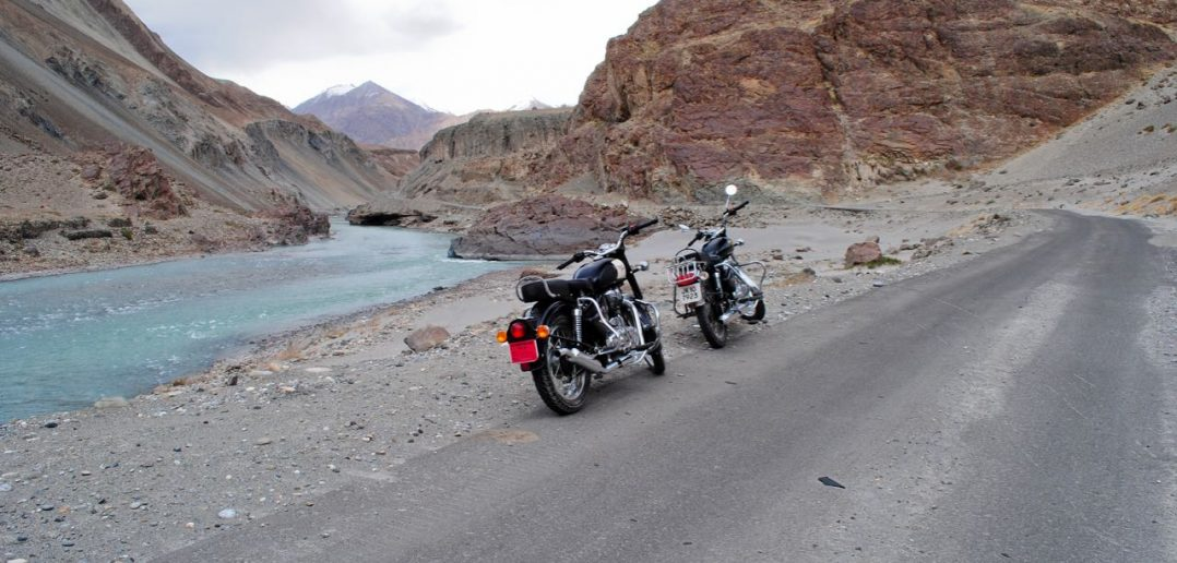 Bike Ride near Indus Zanskar Sangam