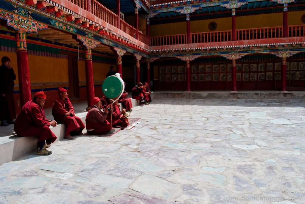 Monks in Hemis Monastery Complex