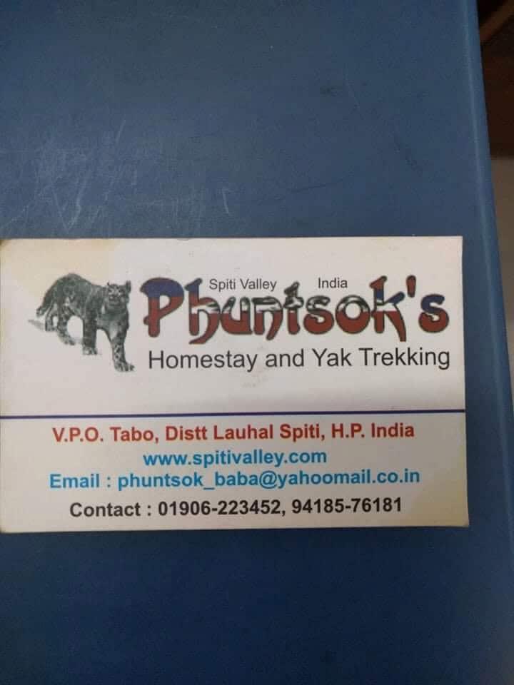 Phuntsok Homestay Tabo, Spiti Valley