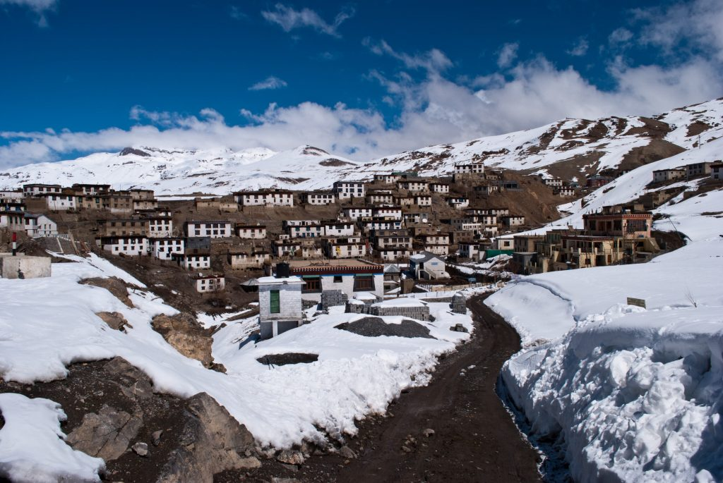 Kibber village in March - Full of Snow