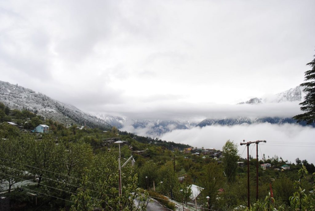 Floating Clouds Kinnaur as seen from Kalpa