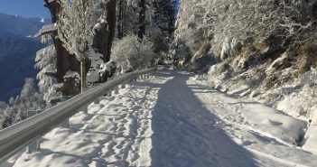 Roads in Kinnaur after fresh Snowfall