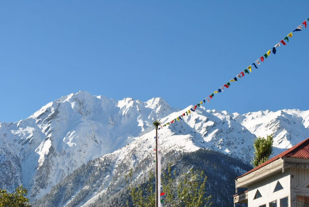 Kinner Kailash Range as viewed from Kalpa Village