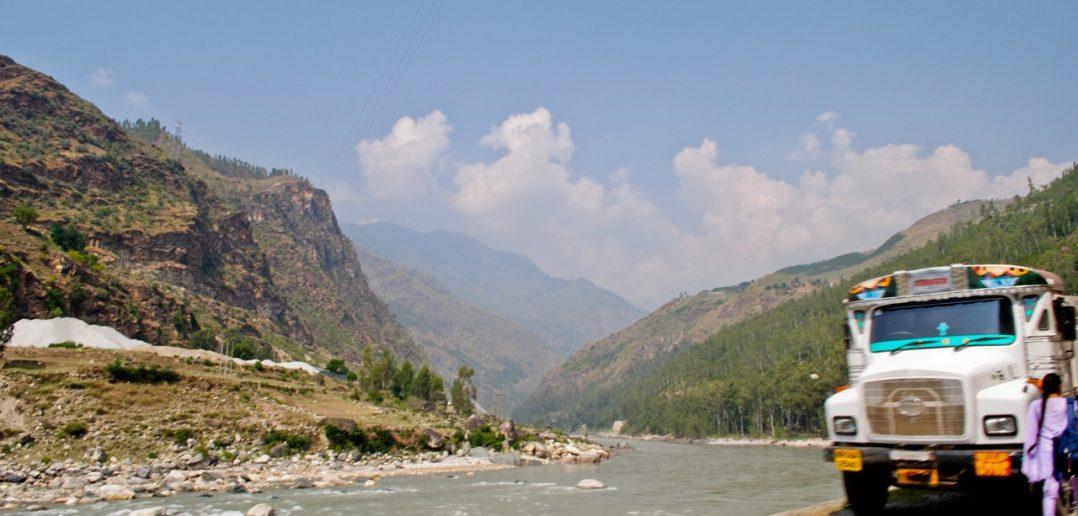 Sutlej River near Rampur after getting down from Narkanda