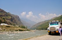 Sutlej River near Rampur after getting down from Narkanda
