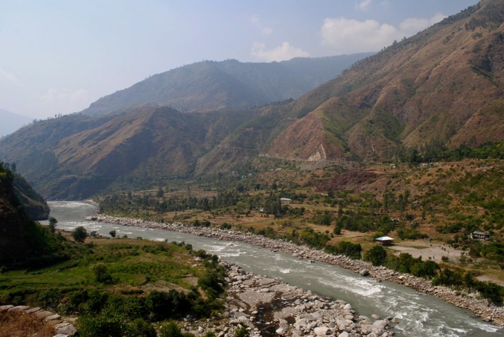 An aerial view of Sutlej