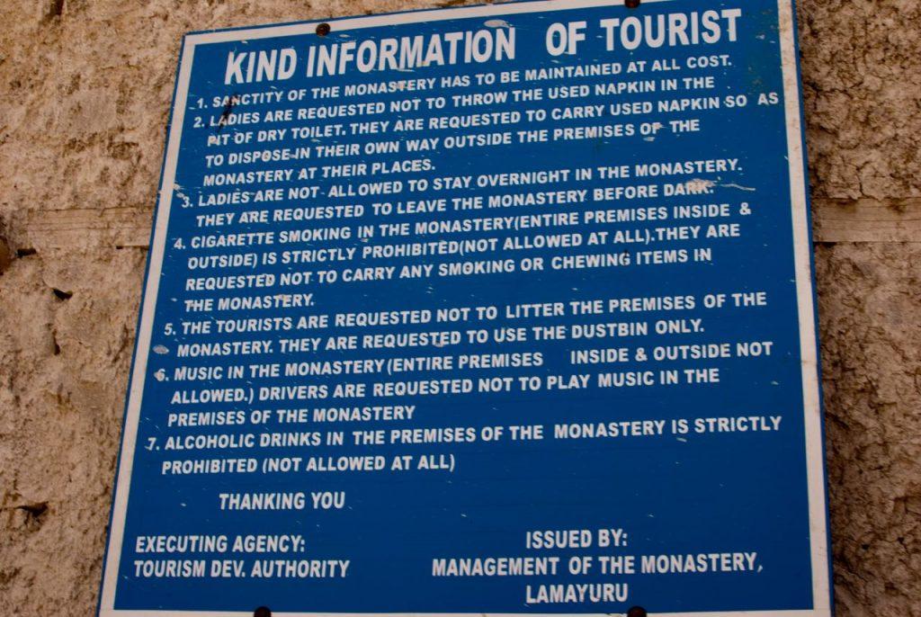 Lamayuru Monastery Information