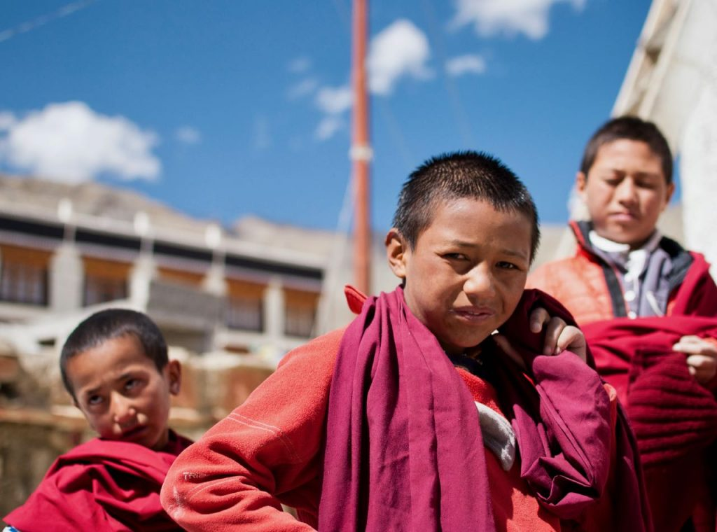Monk Kids at Lamayuru Monastery