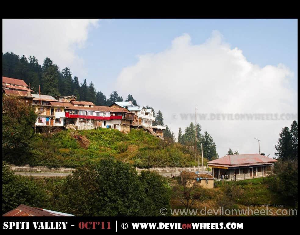 Narkanda on Hindustan - Tibet highway
