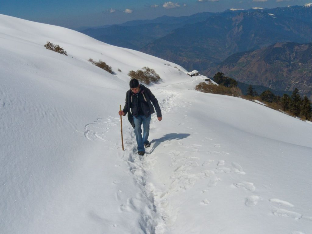 Carrying Trekking Pole helps a lot