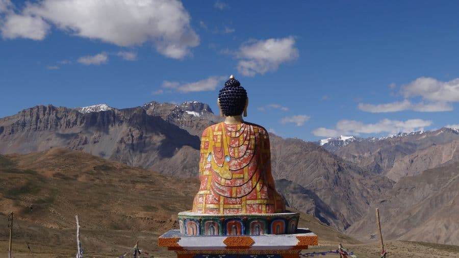 Huge Buddha statue at Langza Spiti Valley